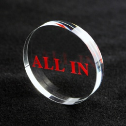 Crystal All IN Dealer Button